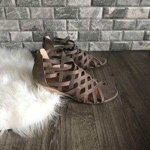 Me Too 'Carlota' lattice gladiator wedge sandals